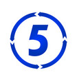 number 5 icon vector image vector image