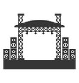 outdoor concert stage constructions with sound vector image
