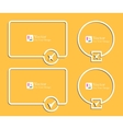 Outline banners with check marks confirmation vector image vector image