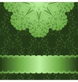 pattern in green background vector image vector image