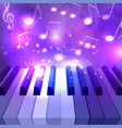 piano keys notes and sparkles for your d vector image vector image