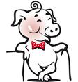 pig min vector image
