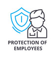 protection of employees thin line icon sign vector image vector image
