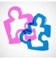 Puzzle Ink Hand Drawn Symbols vector image vector image