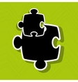 puzzle piece icon design vector image