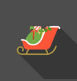 santa sleigh with present boxes vector image