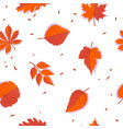 seamless forest pattern with red autumn leaves vector image