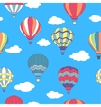 Seamless pattern of flying hot air balloons vector image
