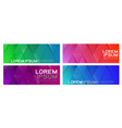 set colorful repeating triangles gradient vector image