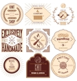 Set of vintage knitting labels badges and design vector image vector image