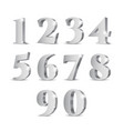 silver 3d numbers vector image