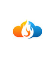sky fire logo icon design vector image