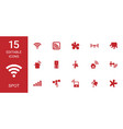 spot icons vector image vector image