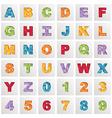 square polygon alphabet vector image vector image