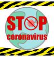 stop coronavirus banner prohibition sign vector image vector image