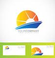 Sun rays logo vector image vector image
