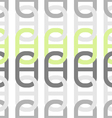 The pattern abstraction chain ovals vector image
