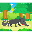 The three little pigs hungry wolf vector image vector image