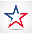 usa flag in star shape american star vector image