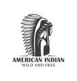 Vintage logo american indian