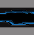 abstract blue grey circuit cyber metallic black vector image vector image