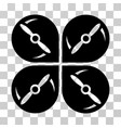 airdrone screws rotation icon vector image