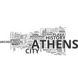 athens a walk on the wild side text word cloud vector image vector image