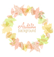 Autumn round frame vector image vector image