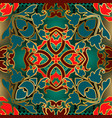 baroque colorful seamless pattern tribal vector image vector image
