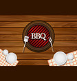 bbq party restaurant table background vector image vector image