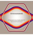beige gradient background frame color bars vector image