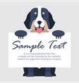 bernese mountain dog with signboard vector image vector image