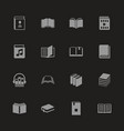 books - flat icons vector image