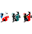 Breakdance silhouette of a man in bright clothes vector image vector image