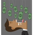 businessman money and bait vector image vector image