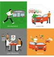 Car Dealership Design Concept vector image vector image