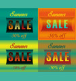 cards with inscriptions for retail striped font vector image vector image