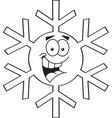 cartoon snowflake vector image vector image