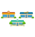 City Store Buildings Set vector image vector image