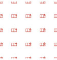 clean window icon pattern seamless white vector image vector image