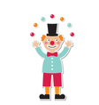 clown sticker vector image