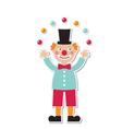 clown sticker vector image vector image