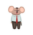coala bear businessman office worker cute vector image