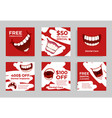collection dental care poster with place vector image vector image