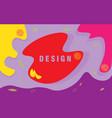 color splash abstract cartoon background vector image