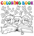 coloring book kids theme 5 vector image