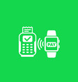 contactless payment with pos terminal vector image vector image