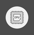 cpu icon sign symbol vector image