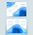 design of business brochure vector image vector image