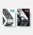 design of white and black covers of the 2018 vector image vector image